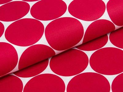 Webware Baumwolle Swafing Doro - Punkte - weiß/rot