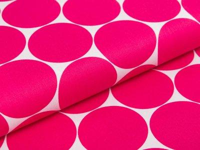 Webware Baumwolle Swafing Doro - Punkte - weiß/pink