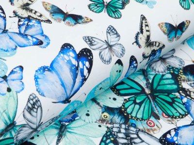 Jersey Digitalprint Stenzo PANEL ca. 100 cmx 150 cm - DIY my Circle Skirt mit Schmetterlingen - weiß