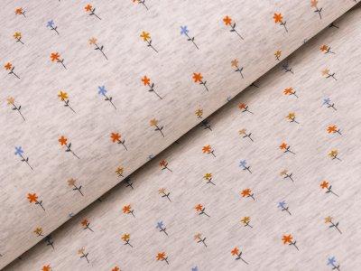 Alpenfleece - Blumenwiese - beige meliert