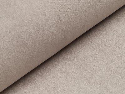Wasserabweisender Frotteestoff für Lätzchen oder Wickelauflage Stück ca. 75 x 75 cm - helles grau