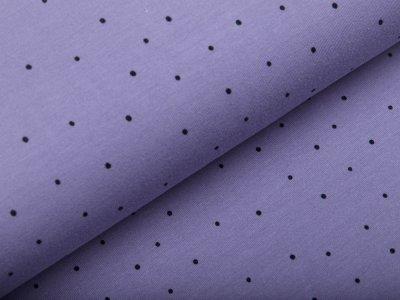 Jersey - unregelmäßige Punkte -  indigoblau