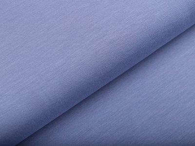 Hochwertiger Bambus Jersey - uni jeansblau