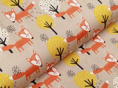 Jersey Swafing Theo - Füchse im Wald - beige