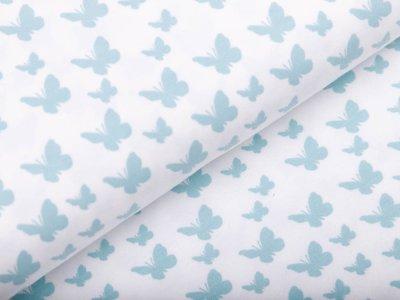 Jersey - Schmetterlinge - weiß
