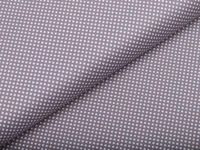 Webware Baumwolle - mini Punkte - grau