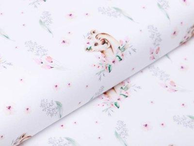 Webware Popeline Baumwolle Digitaldruck - kleine Tiger - weiß