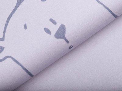 Sweat French Terry Herr Pfeiffer by Emmapünktchen PANEL ca. 60 cm x 160 cm - Bär auf Streifen - grau