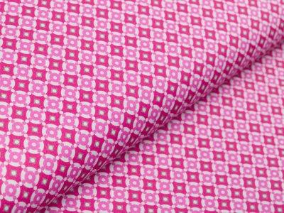 Webware Baumwolle Swafing Jasmin - Kreise in Kreisen - fuchsia