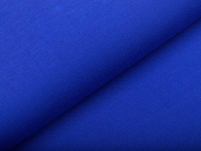 Bambus Sweat French Terry Strickstoff - uni kobaltblau