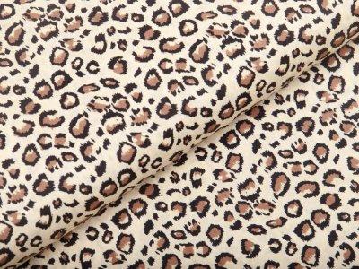 Webware Baumwolle - Animalprint-Leopard - beige