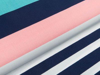 Webware Popeline Baumwolle - Streifen - weiß