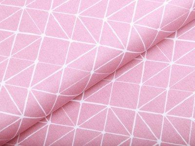 Webware Baumwolle Swafing Kurt - Geometrische Linien - rosa