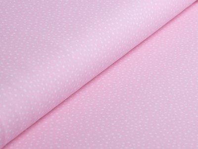Jersey Swafing - Little Spring - unregelmäßige Punkte - rosa