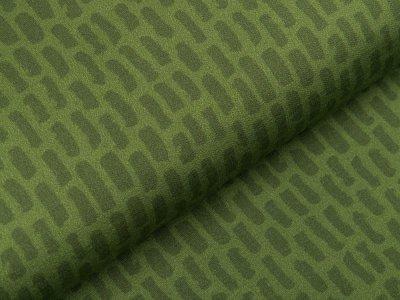 Sweat French Terry Digitaldruck Stenzo - dicke Striche - altgrün