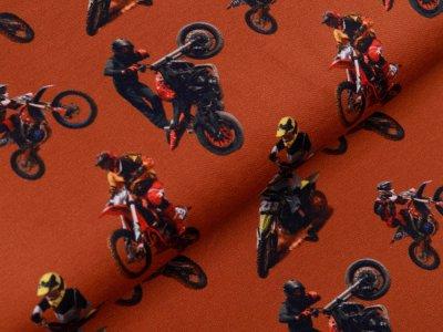 Sweat French Terry Digitaldruck Stenzo - Motocross - terrakotta