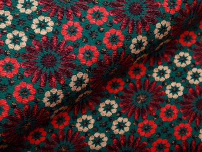 Jersey - Mosaikmuster - waldgrün