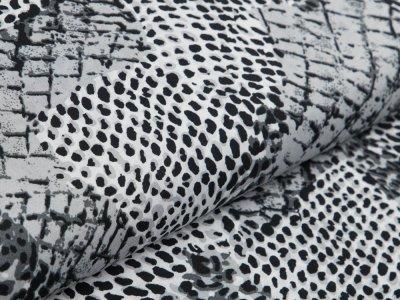 Webware Viskose - Animalprint - schwarz/weiß