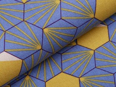 Canvas Tillisy - geometrische Formen - blau/gelb