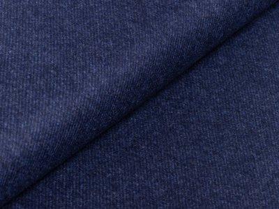 Wollstoff Swafing Elisa - Twillmuster - blau
