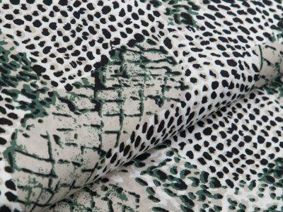 Webware Viskose - Animalprint - stein/weiß