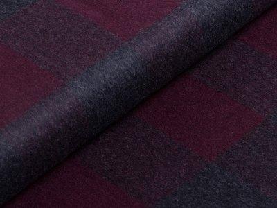 Tweed Wollstoff Swafing Luigi - Karomuster - bordeaux