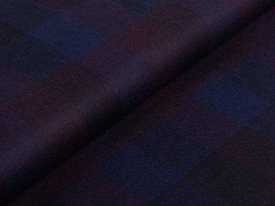 Tweed Wollstoff Swafing Aurora - Karomuster - dunkelrot