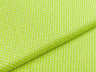Webware Popeline Baumwolle - kleine Punkte - lime