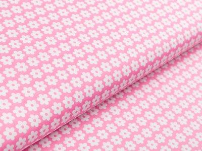 Webware Baumwolle Daisy - Blüten - rosa