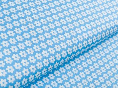 Webware Baumwolle Daisy - Blüten - blau