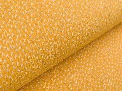 Musselin Baumwolle Hydrofiel Gauze - kleine Berge - ocker