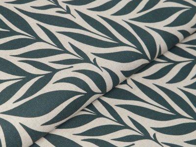 Canvas Leinenoptik - Blätter-Wedel - natur/olive