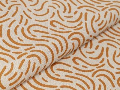 Canvas Leinenoptik - abstraktes Muster - natur/ocker