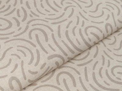 Canvas Leinenoptik - abstraktes Muster - natur/grau