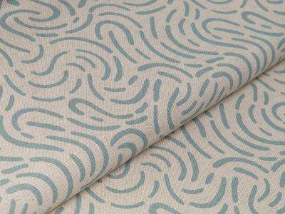 Canvas Leinenoptik - abstraktes Muster - natur/mint