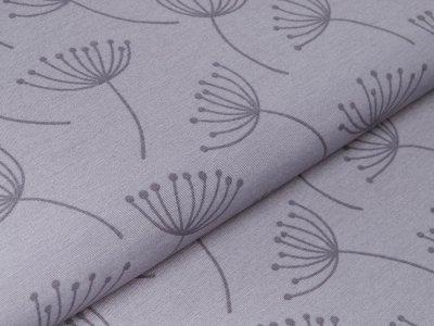 Canvas Leinenlook Loneta - Pusteblumen - grau
