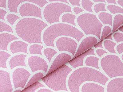 Canvas Leinenlook Loneta - kleine und große Berge - rosa