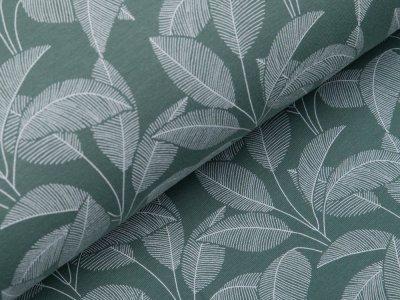 Angerauter Sweat Organic Cotton - Blätter - altmint