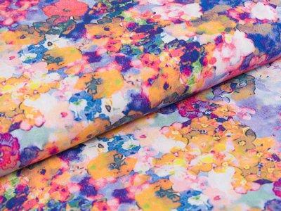Webware Viskose Radiance Digitaldruck - Rosella by Penelope - Blütemmeer - gelb