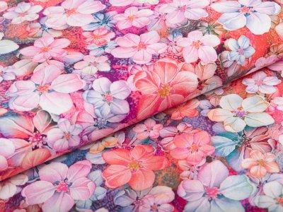 Webware Viskose Radiance Digitaldruck - Rosella by Penelope - Blumenmmeer - rosa