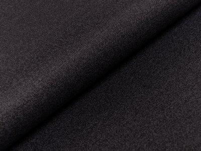 Jacquard-Jersey - meliert - schwarz