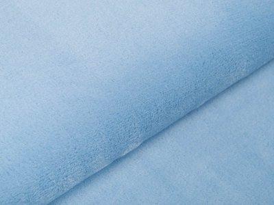 Wellnessfleece Teddyplüsch - uni blau