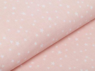 Französische Webware Baumwolle - unregelmäßige Sterne - puderrosa