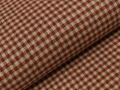 Tweed - Karos - beige - terracotta