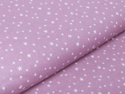 Französische Webware Baumwolle - unregelmäßige Sterne - flieder