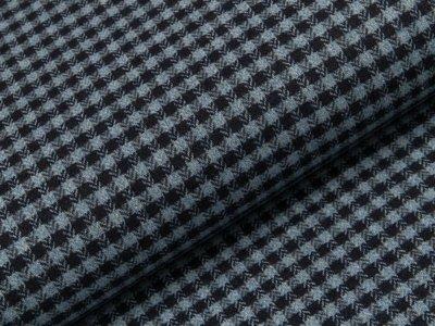 Tweed - Karos - hellblau - dunkelblau