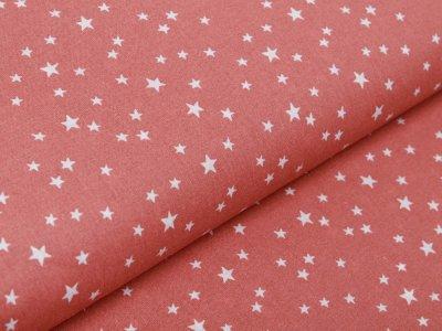 Französische Webware Baumwolle - unregelmäßige Sterne - altrosa