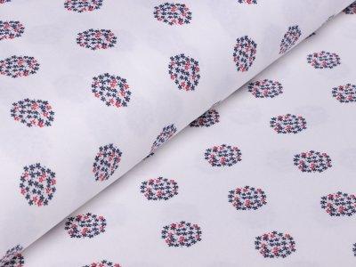 Interlock Sanetta - Blumenbälle - weiß