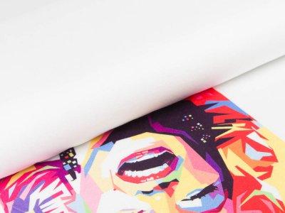 Jersey Viskose Marilyn - PANEL ca. 110 x 150 cm - Marilyn Monroe - weiß