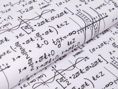 Webware Baumwolle Swafing Kim - Mathematische Formeln - weiß